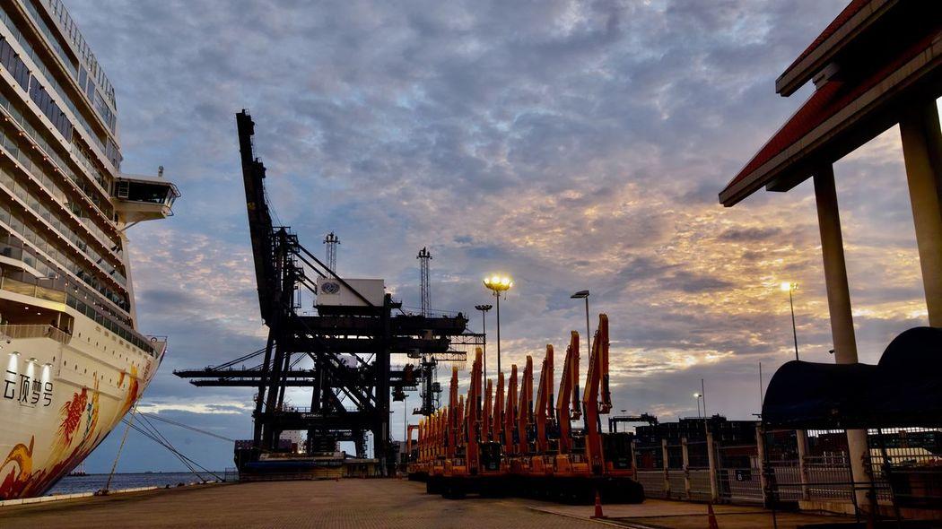 夕阳西下的曼谷🇹🇭港湾