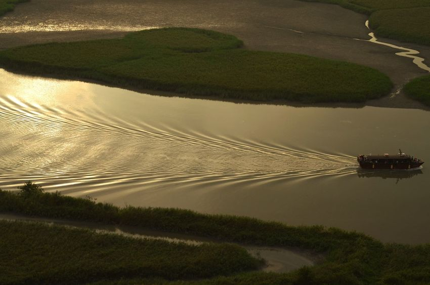 Shape of light Sunset Gulp Landscape Nature Environment High Angle View Water Scenics - Nature