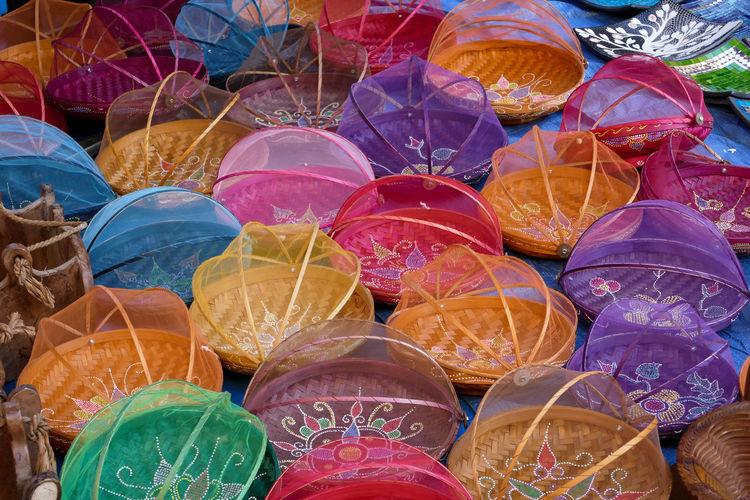 Full frame shot of colorful market for sale