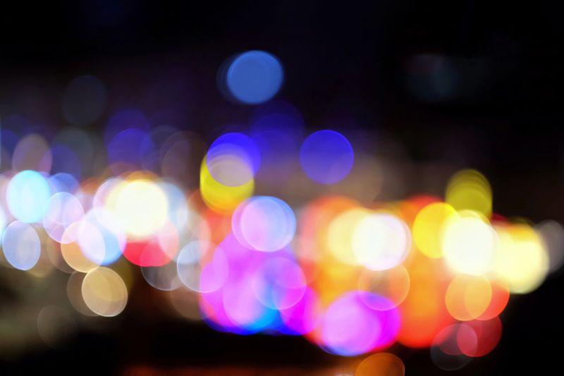 City lights seen from rooftop Bokeh Bokeh Photography Bokeh Lights Lights City Lights At Night City Lights Night Lights Night Illuminated Defocused Night Circle Geometric Shape Multi Colored No People Light - Natural Phenomenon Glowing Pattern Shape Abstract Light Light Effect City Street