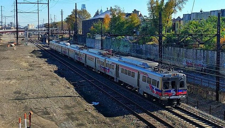 Silverliner V's on the Septa  Paoli-Thorndale Line.