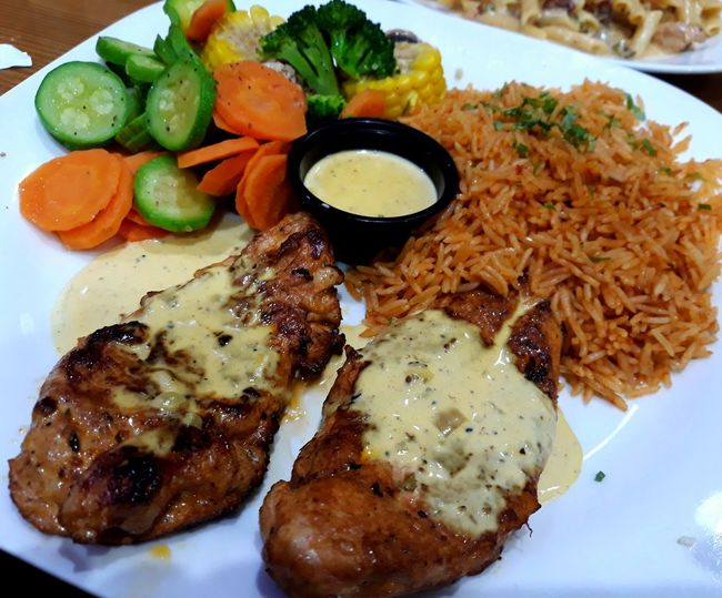 Food Plate Meat Main Course Serving Size Chicken Rice Cajun Chicken Cajunfood CajunGrill