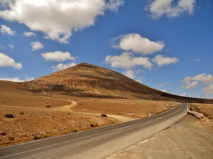 Empty Road In Desert Against Sky