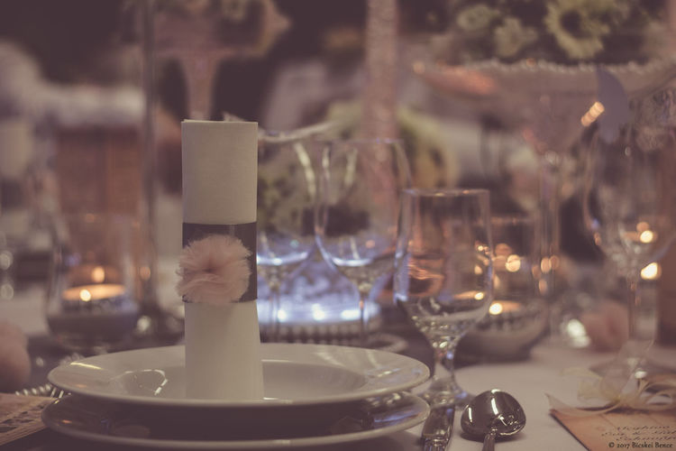 Close-Up Of Table Setting At Restaurant