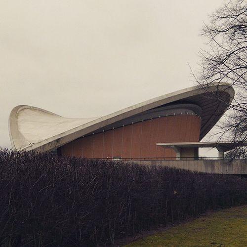UFO Hausderkulturen Roof Architecture Orange Berlin mitte