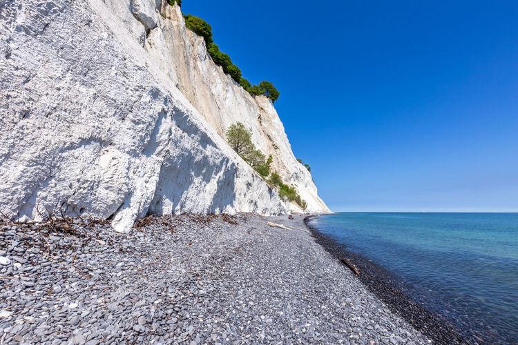 Chalk Cliffs of Møn, Denmark Denmark Danmark Moen Rubble Cobblestone Chalk White Cliffs  White Cliffs Of Denmark Kreidefelsen Sky Nature Rock Clear Sky Tranquil Scene Day Scenics - Nature Land Beauty In Nature Outdoors
