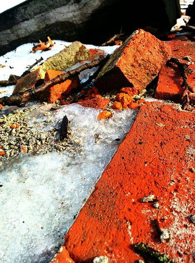 Bricks Crumbling Ice Spring Melt Ruins