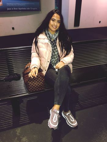 be happy & live for yourself💪🏽 Louis Vuitton Airmax97 Pinay Girl One Person Real People Jacket Leisure Activity Casual Clothing Front View Smiling Happiness Fashion
