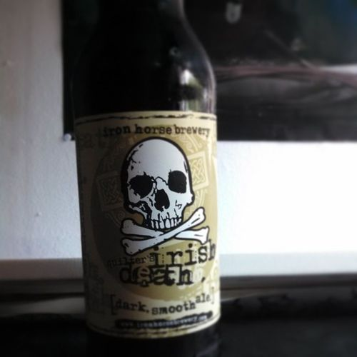 Love that Irish Death after a long, hot day at work, just something to sip on, quality over quantity Irishdeath Ale Darkale