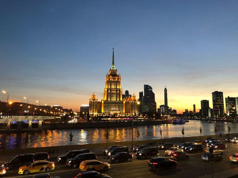 Moscow, Ukraine hotel (Radisson) Stalin Skyscraper Ukraine Hotel Moscow Architecture City Building Sky No People Cityscape Urban Skyline