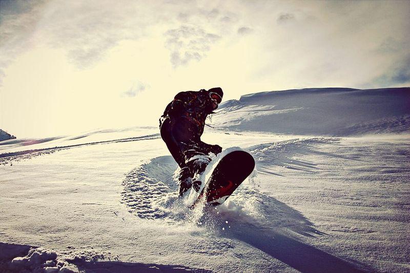 Snowboarding Winter White By CanvasPop