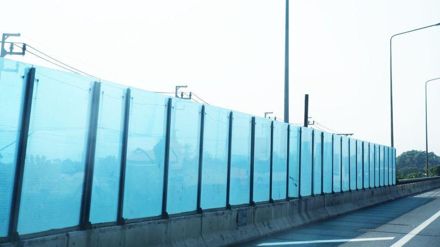 View of bridge against clear sky