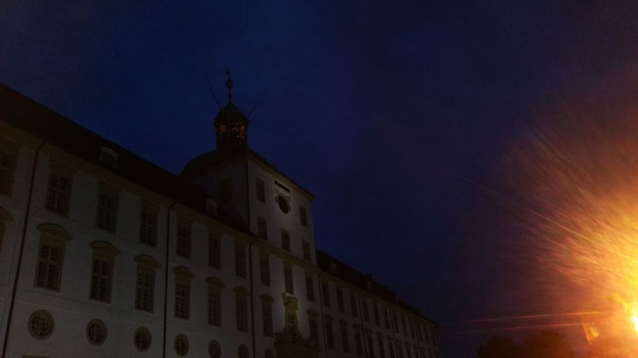 Night Architecture Building Exterior Lightshow Lights Light Nofilter No People Outdoors Museums Schloß Gottorf Schleswig-Holstein Schleswig Concert Openair Dramatic Sky Sky Built Structure Architecture Paint The Town Yellow
