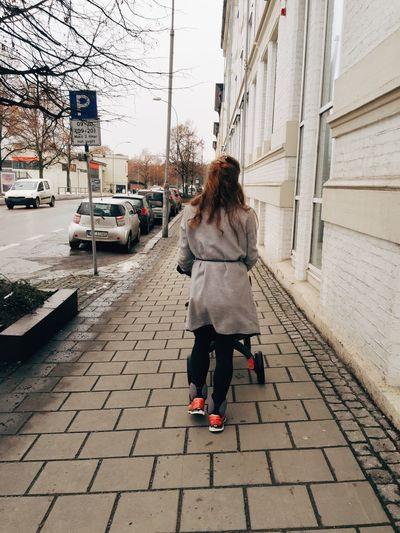Streets Of Oslo Streetphotography Oslo Majorstuen Winter Sidewalk
