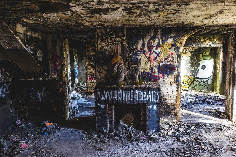 Graffiti in abandoned building