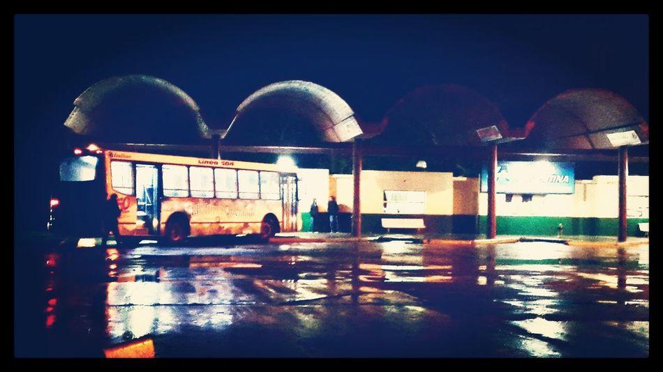 Architecture Illuminated Sky Night Rainy Summer Rainy First Eyeem Photo Villa Gesell Bus Terminal Transport