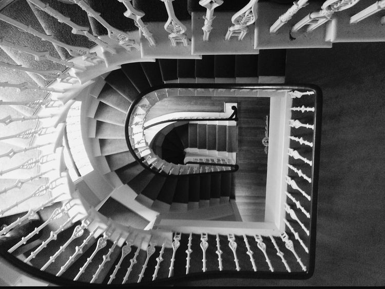 Melrose, Scotland, Harmony House Spiral Staircase Close Up Black And White Photography Man Made Structure Design EyeEm Best Shots - Black + White EyeEm Best Shots - Architecture EyeEm Best Shots EyeEm Gallery Look Down Architectural Detail Structuralphotography Photography Scottish boarders, Melrose Check This Out Eye4photography  From My Point Of View Mobile Photography EyeEm Masterclass Fine Art Photography The OO Mission A Moment In Time Eye4photograghy Hello World A Bird's Eye View Different Perspective