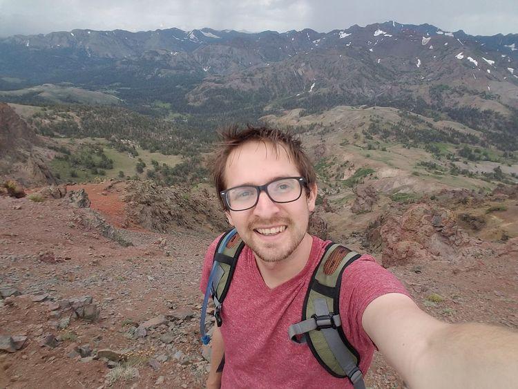 Sonora Pass Sonora Peak Sierra Nevada Sierra Nevada Mountains Alpine Alpine Hiking Alpine Landscape Alpine Summer EyeEm Selects Selfie Photography Themes Photo Messaging Portrait Eyeglasses  Smiling Happiness Looking At Camera Cheerful Mountain Hiker Self Portrait Photography Hiking Self Portrait