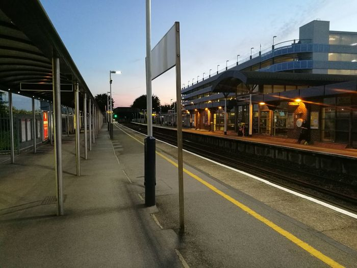 Train Station Platform Station Empty Places Dusklight Dusk Colours Taking Photos Eye4photography  Capture The Moment EyeEm Best Shots Nofilter#noedit Lines Views Lights At Dusk Traveling Home For The Holidays
