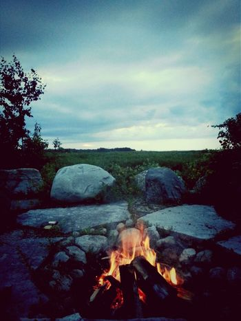 Perfect Fire Friends Camping
