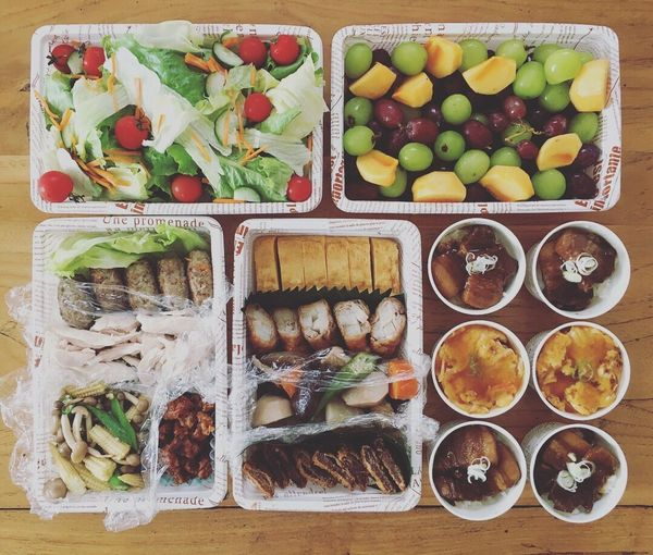 Obento Lunchbox Yummy Cucumber Japanese Food Ready-to-eat Vegetable Freshness Healthy Eating お弁当 楽屋弁当 差入れ No People Plate Salad Food