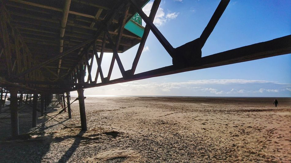 Victorian Blue Sky Wrought Iron Work Pier Beach Sand Sky Architecture Shore Sandy Beach Coast Idyllic Silhouette Tranquil Scene Ocean