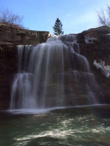 Lundbreck Falls Water Rocks Alberta Canada