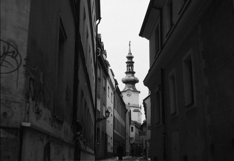 Past Feeling 120Film Analogue Photography Bratislava, Slovakia Film Architecture Blackandwhite Building Exterior Built Structure History No People Oldtown Street