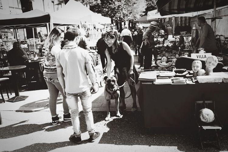 people & dog Blackandwhite Bullmastiff Mercatoantiquario Nikon Nikkor 18-105mm Market Stall Market Shop Street Market Bazaar