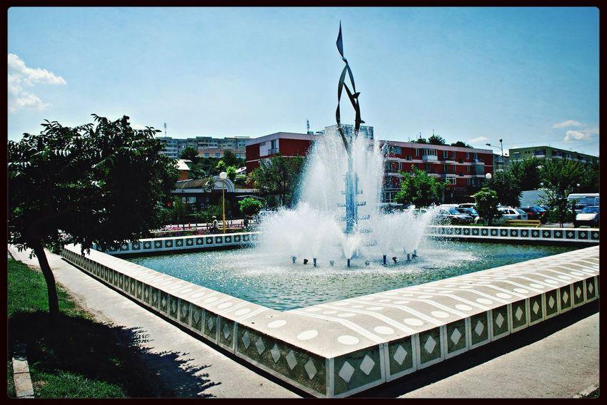 Tulcea Fountain Donaudelta Romania