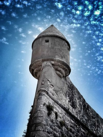 Torretta Guardian Mura Portugal Low Angle View Cloud - Sky No People Building Exterior