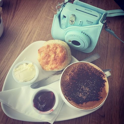 Instax Photography Instax Cream Tea Freshness Food And Drink Food Table Still Life Ready-to-eat Indoors  High Angle View Coffee Meal Indulgence Sweet Food