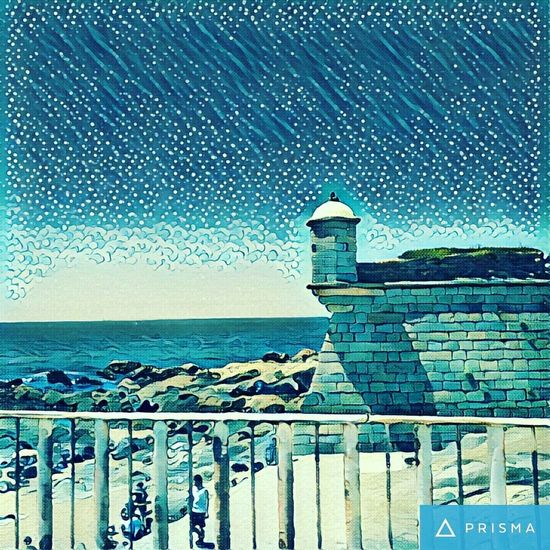 Castelo do Queijo - Foz do Douro Porto Douroriver Check This Out Newtalent Prisma Prismacolor ArtWork Sea Blue Oldfort Artistic For Sale Sea And Sky Beauty In Nature