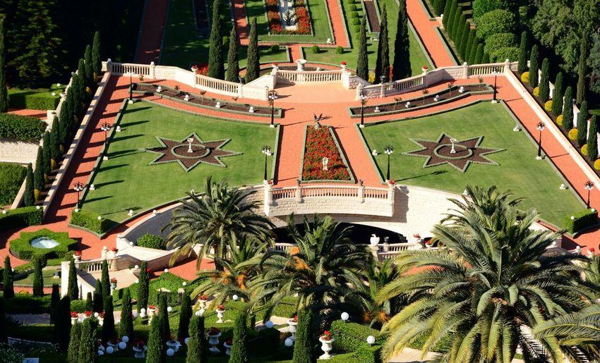 Bahai Gardens Designed Garden Haifa Building Exterior Day Gardens Outdoors Tree