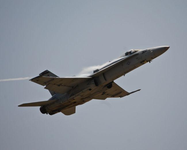 Air Show Air Vapor Airplane F-16 Fighter Jet March Air Base