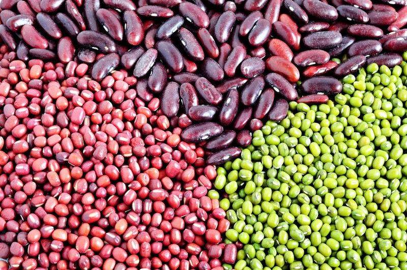 Full Frame Shot Of Various Beans For Sale