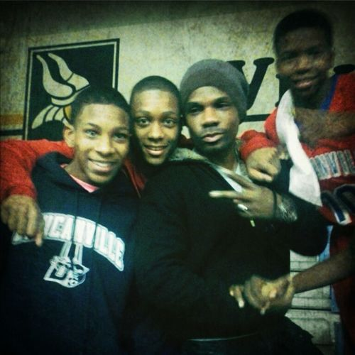 Me Deveon Chad And Kirk Franklin