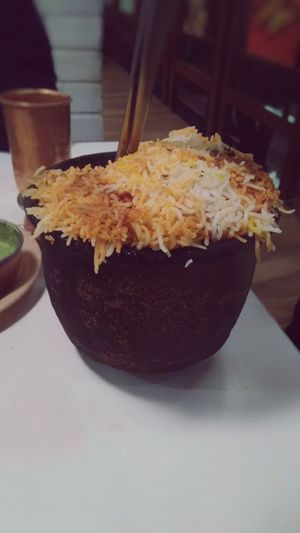 Pot chicken biryani Hot Biryani Chicken Biryani Pot Biryani Food Food And Drink Japanese Food Indoors  Ready-to-eat Indulgence Close-up Temptation Day Fast Food No People