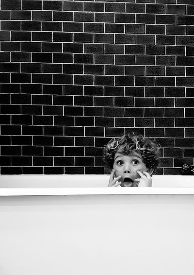 Portrait Of Boy In Bath