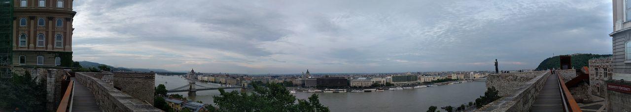 Buda Castle Budapest, Hungary Chain Bridge Of Budapest Nexus6P Nexus6pphotography Panoramic View