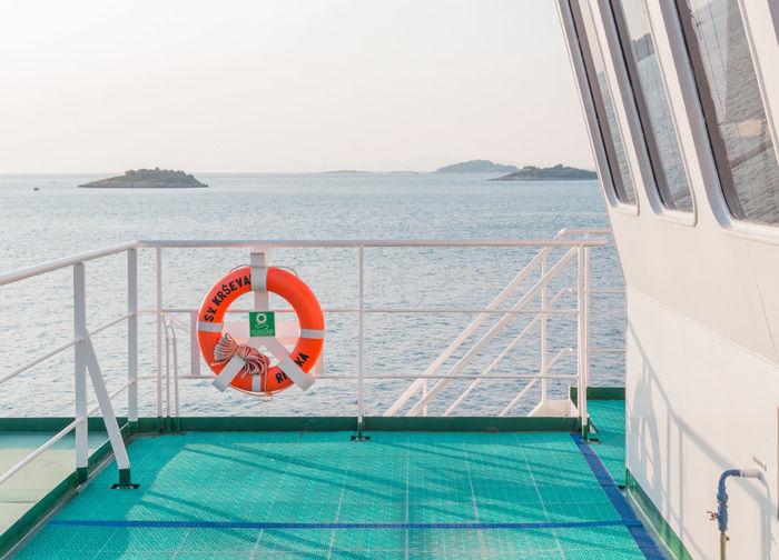 Jadranski Adventure Croatia Ferry Haze Horizon Islands Journey Korčula Morning Outdoors Pastel Power Railing Sea Tranquility Travel Water