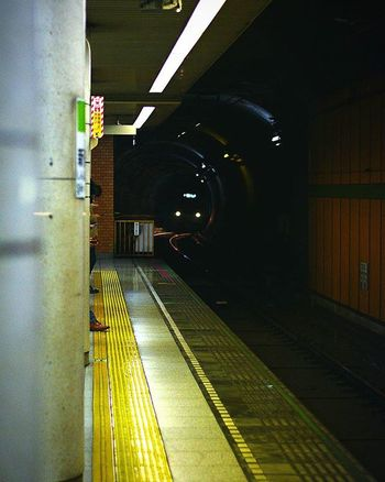 The light at the end of the tunnel. Train Metro Tokyo Tunnelvision Night Monsters Tunnel