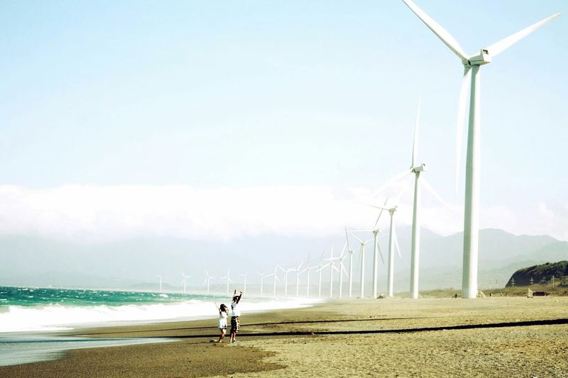 These Bangui windmills each stand 237 feet tall. They do not require fuel, nor produce any waste. They generate almost half of the energy source of the entire province of Ilocos. This, this is sustainable energy. ~ Bangui wind farm, Ilocos Norte, Philippines. Travel On The Road Adventure Starting A Trip People Nature Traveling Snapshots Of Life The Traveler - 2015 EyeEm Awards