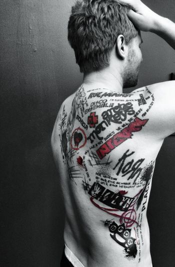 Bands Black And Red Bodyart Korn Tattooed Trash Polka Inked Music Is My Life Festival Fever