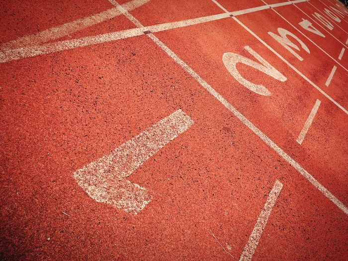 Running Track Sport Sports Track Track And Field Paint Red Sports Race Exercising Starting Line Outdoors No People Competition Playing Field Day Competitive Sport Finish LINE Race