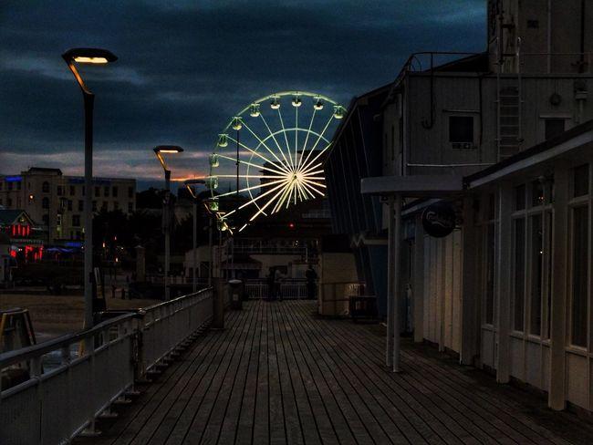 Ferris Wheel Illuminated Architecture Night Lights Pier Sky Bournemouth Ferris Wheel Illumination Boscombe Pier  Night Lights Nightphotography Night Photography Lights In The Dark