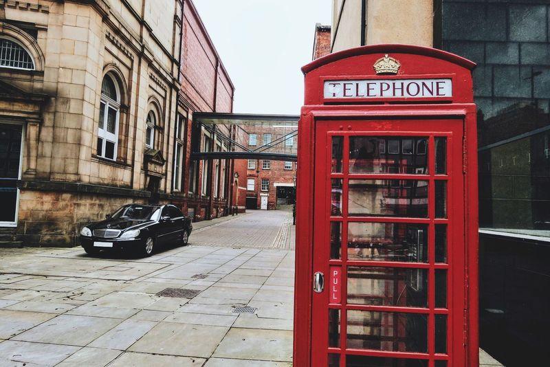 England England🇬🇧 England, UK English Britain British Red Telephone Box Telephone Telephone Box Leeds Leeds, UK Black Car Architecture Architecture_collection