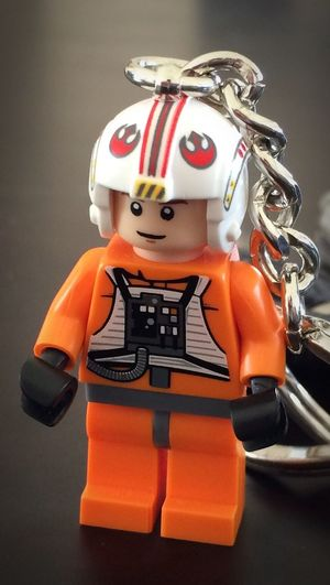 Breathing Space Starwars Toy Close-up Orange Color Llavero LEGO EyeEmNewHere