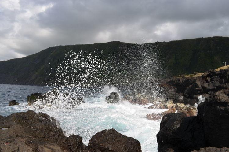 Atlantic Azores Açores Faial Faial Island Faja Beach Ocean Overcast Power In Nature Waves Power In Water