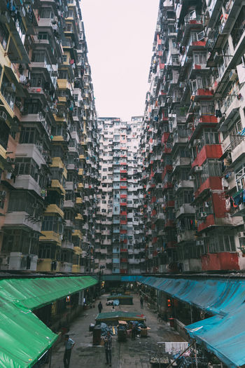 Low Angle View Of Residential Buildings